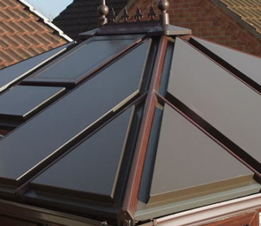 lean to conservatory with composite panels