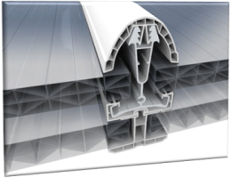 Poly-carbonate panel cutaway section