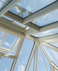 interior view double glazed roof