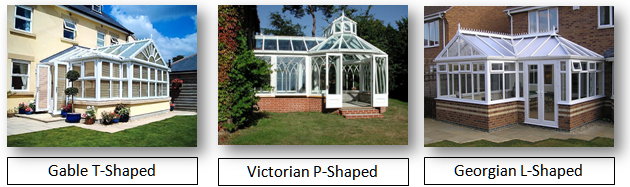P T & L shaped conservatories
