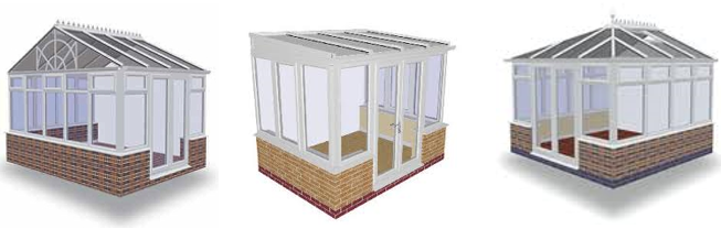 small square conservatory styles