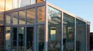 Lean to conservatory grey